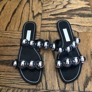 Zara summer black slides